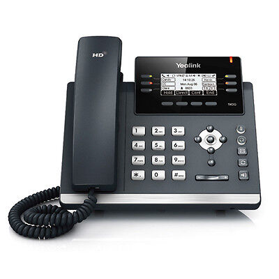 New Yealink SIP-T42S SIP 12-Line Phone HD Voice POE WITHOUT Power adpater