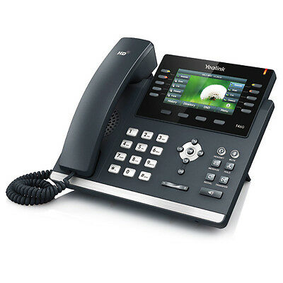 New Yealink SIP-T46G SIP 16-Line Phone HD Voice POE WITHOUT Power adpater