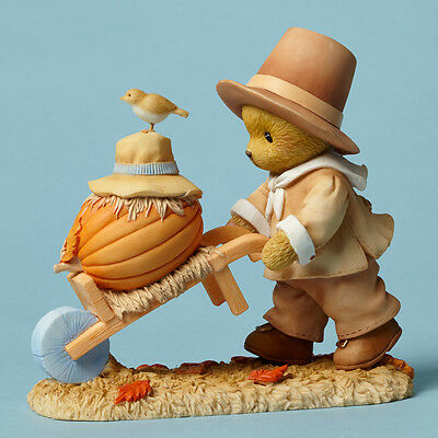 "Cherished Teddies Caleb ""You're My Perfect Punkin"" Thanksgiving Figurine"