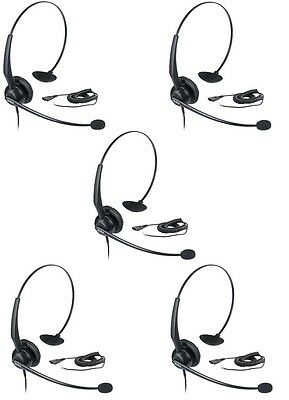 LOT OF 5 New Yealink YHS33 Headset (New model of YHS32)