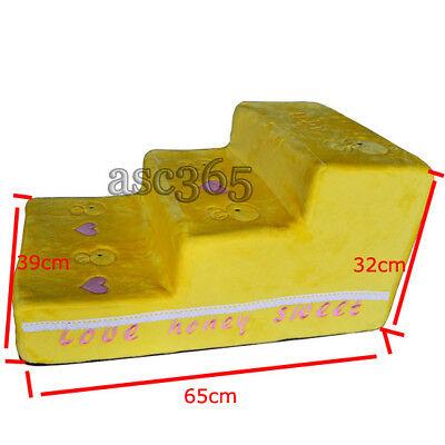 Portable Pet Stairs Yellow Duck