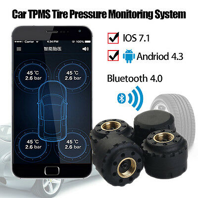 Bluetooth 4.0 TPMS Tire Pressure Monitor System Car External Sensor for Android