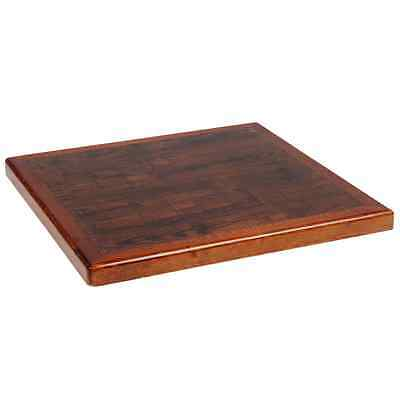 New Commercial Restaurant Resin Table Top Wood Edge Furniture Square 30x30