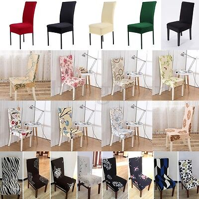 8Pcs Stretch Dining Chair Cover Washable Removable Slipcover Dinning Cover