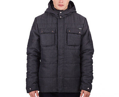 Russell Athletic Men's Quilted Puffa Jacket - Smoke