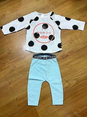 Bonds Girls Top And Pants Size 3-6 Months