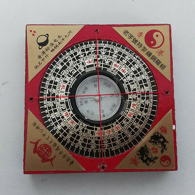 Feng shui Wooden Square Compass Luo Pan Luojingyi Ehance Health Protection