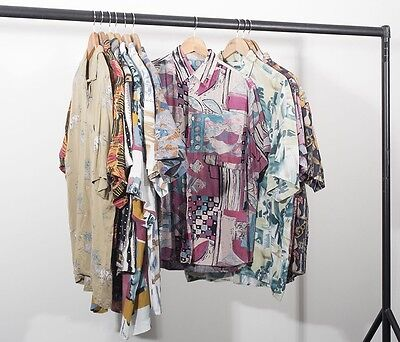 Crazy Patterned Shirt x 25 Job Lot Grade A Vintage Clothing Wholesale