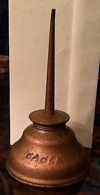 Antique Copper Eagle Brand Oil Can