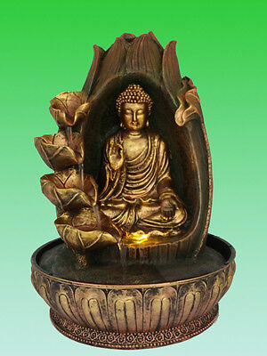 Buddha Water Feature - Intuition Indoor Fountain (1 Year Warranty, Pump & LED)