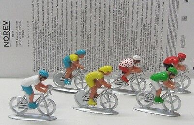 Fahrrad 6er Set ( Tour de France ) ca.4,5 cm / Norev