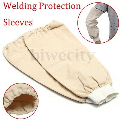 1 Pair 40cm Welding Protection Leather Welders Sleeves Protective Splatter Split