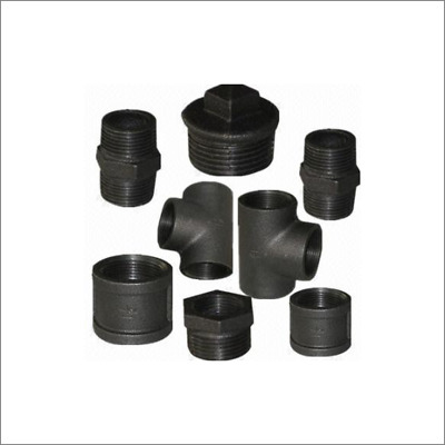 "BLACK MALLEABLE IRON PIPE FITTINGS BSP 1/8"" - 4"" - UK VAT Registered Seller"