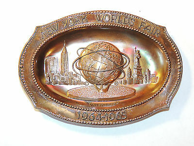 New York Worlds Fair Tray 1964-1965 Unisphere 1961 NYWF (12265)