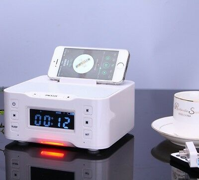 NFC White Bluetooth Speaker Radio Audio Station For iPhone iPod Samsung HTC Sony