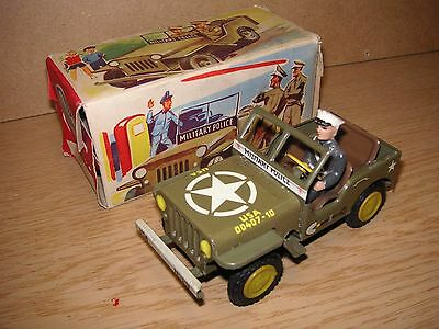 Göso Götz & Sohn Militär US Army Jeep 1955 im OKT Top W. Germany Tin Tole Latta