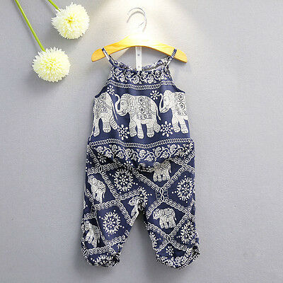 2PCS Toddler Kid Baby Girl Vest Tops Shirt+Pants Summer Beach Outfit Clothes Set