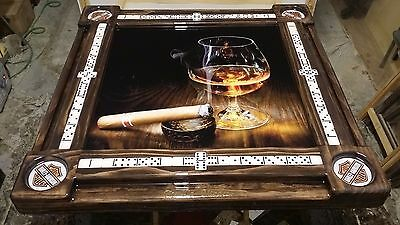 Wine and Cigar Domino Table by Domino Tables by Art & your choice of cupholders