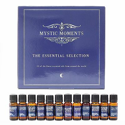 Mystic Moments | The Essential Selection | 12 Pure Essential Oils (GIFTSELEESSE)