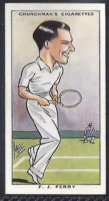Churchman-Sporting Celebrities-#47- Tennis - Perry