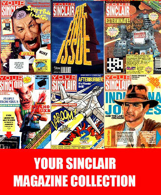 YOUR SINCLAIR & YOUR SPECTRUM COMPLETE All 104 PDF Issues on 2 DVD