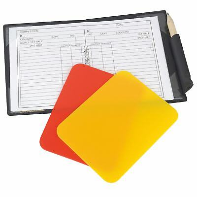 Referee Red/Yellow Cards Football Sports Wallet Refs Notebook Pad & Pencil Set