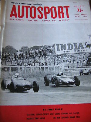 Autosport January 18th 1963 *Monte Carlo Rally Preview & New Zealand Grand Prix*