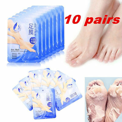 10 Pairs Soft Exfoliating Peel Foot Mask Baby Feet Remove Callus Hard Dead Skin