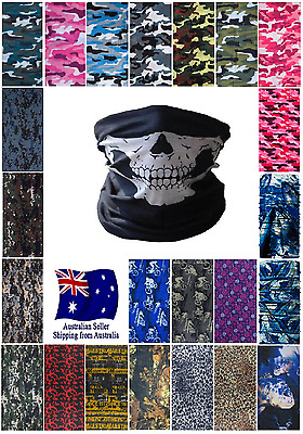 Camouflage Digital Camo Bandana Face Mask Shield Fishing Biker Neck Tube Scarf