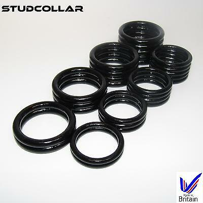 STUDCOLLAR-SUPERMAX-BLACK - 8 Ring Choices - 32mm and 38mm ID - 1 COLLAR / ORDER
