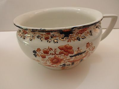 1880's antique colorful pot by Myott son & co. in Yorkshire England