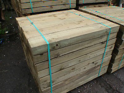 NEW ECO TREATED LANDSCAPING SLEEPERS Pressure treated