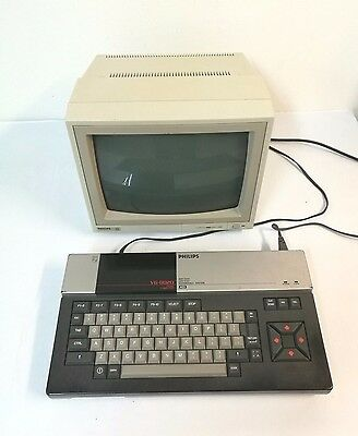 PC MSX  PHILIPS VG-8020 COMPUTER  + computer MONITOR philips 80