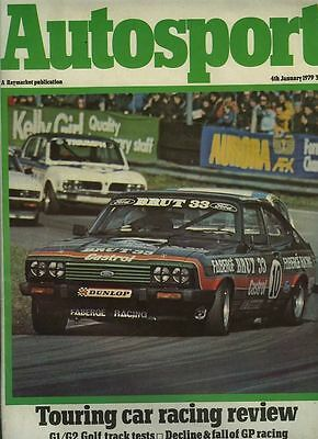 Autosport January 4th 1979 *ETCC & BTCC Surveys for 1978*
