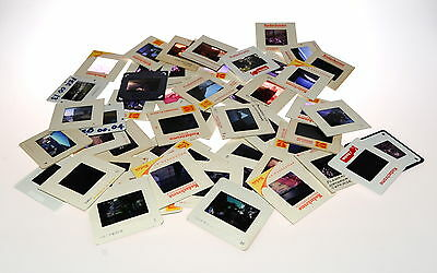 35mm Mounted Slides - 50 in Total .. Various Misc