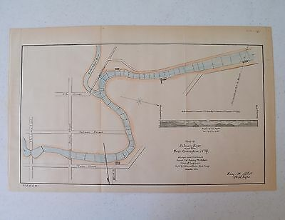 Antique Map of Salmon River at Port Covington NY 1884
