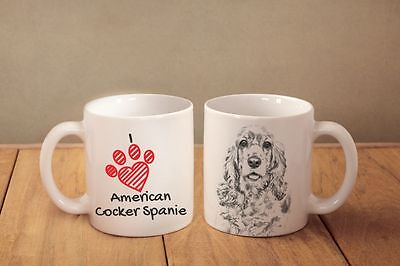 "American Cocker Spaniel - ein Becher ""I love"" Subli Dog, DE"