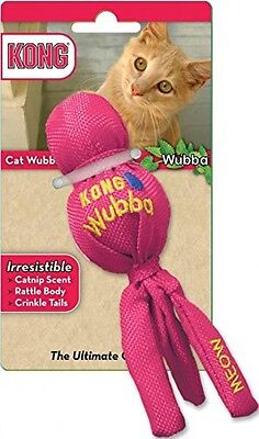 KONG Wubba Cat Kitten Toy - Catnip Scent - Rattle Body - Crinkle Tail - New