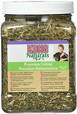 KONG Premium Catnip 2 Oz. -  Resealable Container - Irresistible Scent