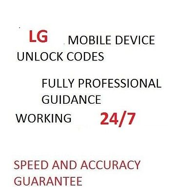 LG Any  Network Unlocking Code Pin For LG G2,G3,G4,G5 Any Fast Response .
