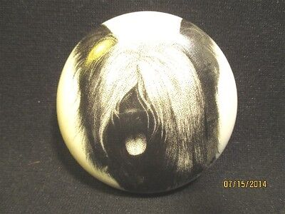Porcelain Skye Terrier Head Study Paperweight