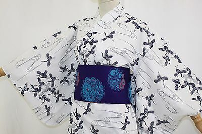 浴衣 Yukata japonais traditionnel -Tsuru - Made in Japan - L SIZE