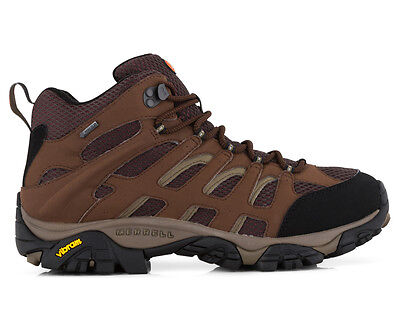 Merrell Men's Wide Fit Moab Mid Gore-Tex Boot - Dark Earth
