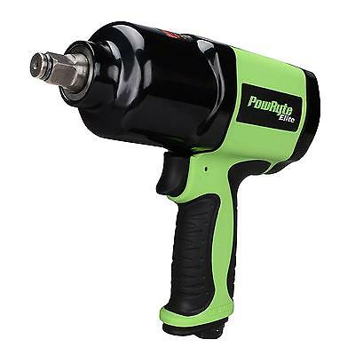 PowRyte 500036 Elite 1 2 Inch Composite Heavy Duty Air Impact Wrench Twin...
