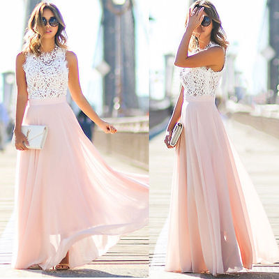 Women Formal Wedding Bridesmaid Long Party Ball Prom Gown Evening Cocktail Dress