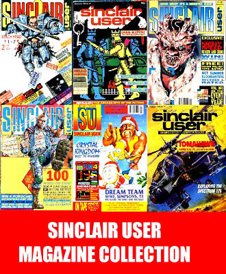 Sinclair User Magazine Collection 134 Issues DVD