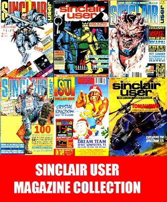 Sinclair User & ZX Computing Magazine 172 Issues Complete Collection on 2 DVD