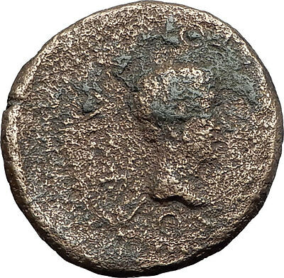 Greek King RHOEMETALKES of THRACE & AUGUSTUS Authentic Ancient Roman Coin i59721