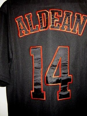 Large Jason Aldean  BURN IT DOWN TOUR Jersey Shirt Heavy Embroidered Patches