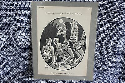 Vintage 1944 Lithograph Pepsi Cartoon Ad By Peter Arno